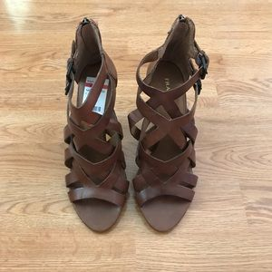Franco Sarto Brown Heeled Sandals